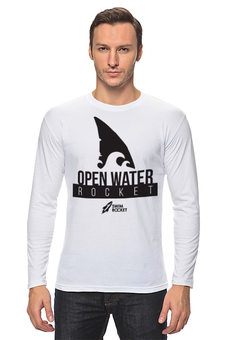 """Лонгслив """"Open Water Rocket"""" - спорт, соревнования, плавание, swimrocket, открытая вода"""
