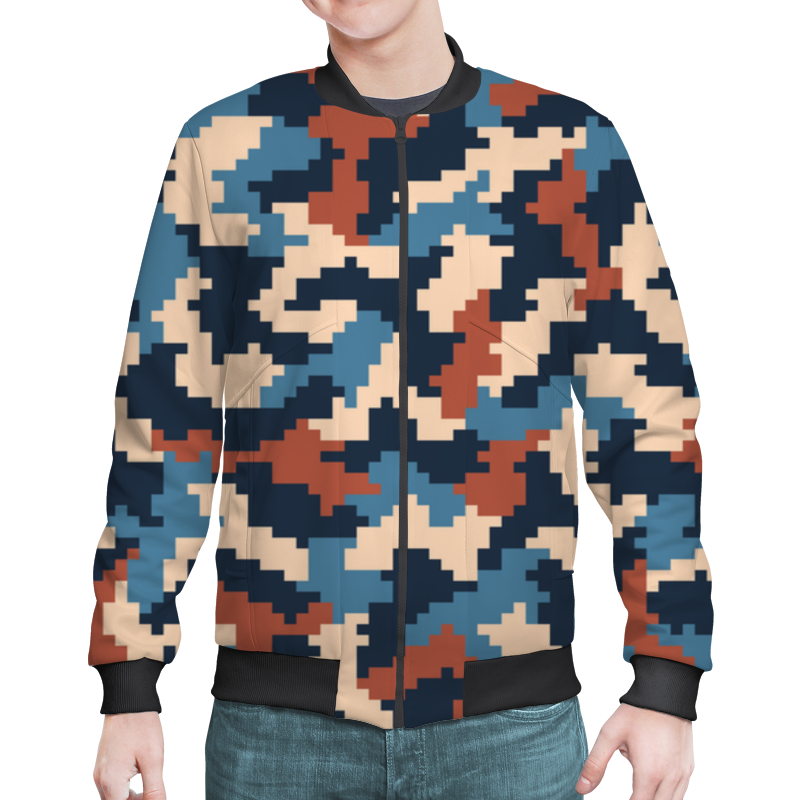 Бомбер Printio Pixel camouflage xintown camouflage winter long sleeved