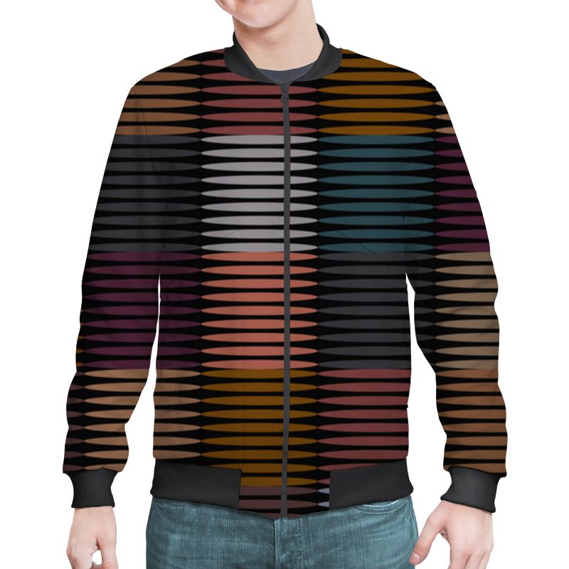 Бомбер Printio Цветная абстракция