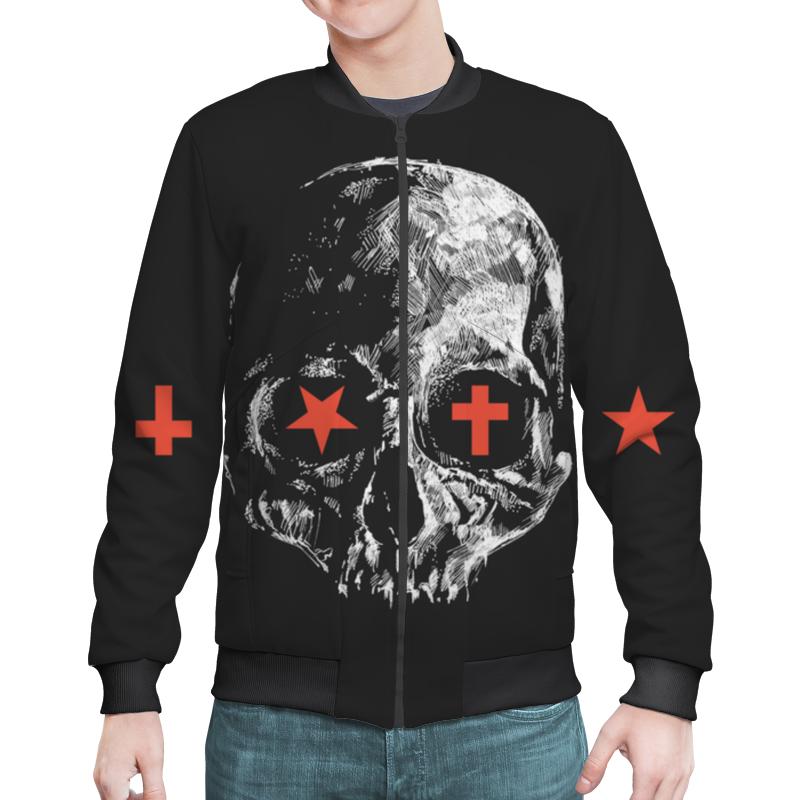 Бомбер Printio Skull - 23 fashionable punk style skull pendant necklace