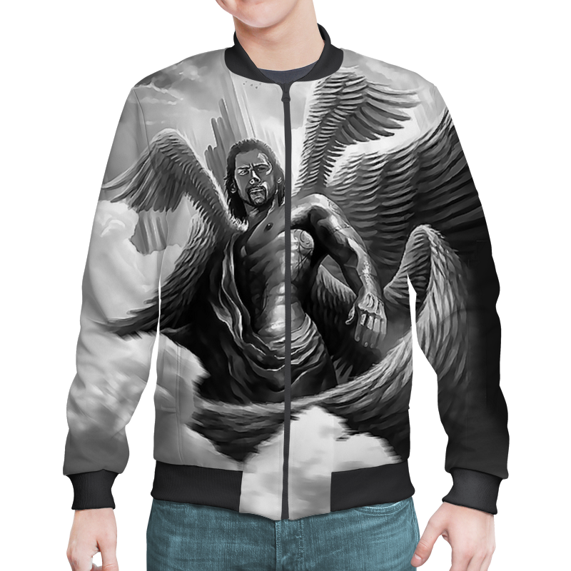 Бомбер Printio Archangel lucifer (black) archangel s heart