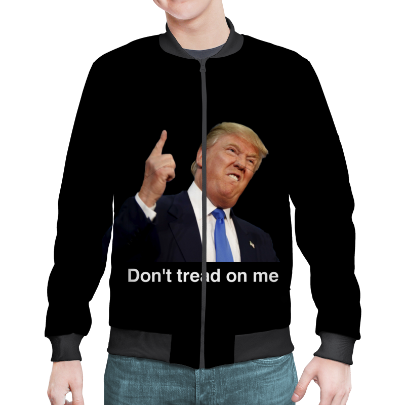 Бомбер Printio Don't tread on me трамп цена 2017