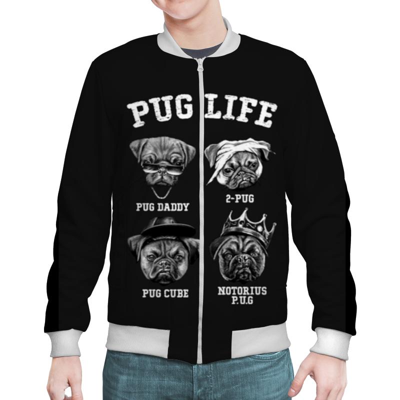 Бомбер Printio Pug life лонгслив printio pug life