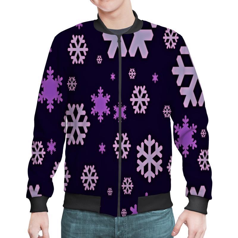 Бомбер Printio Снежинки костюм маленькой снежинки 32