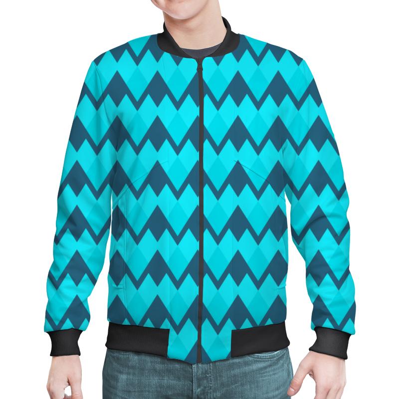 Бомбер Printio Голубой орнамент верхняя одежда acoola куртка для девочек бомбер с нашивками цвет голубой размер 98 20220130119