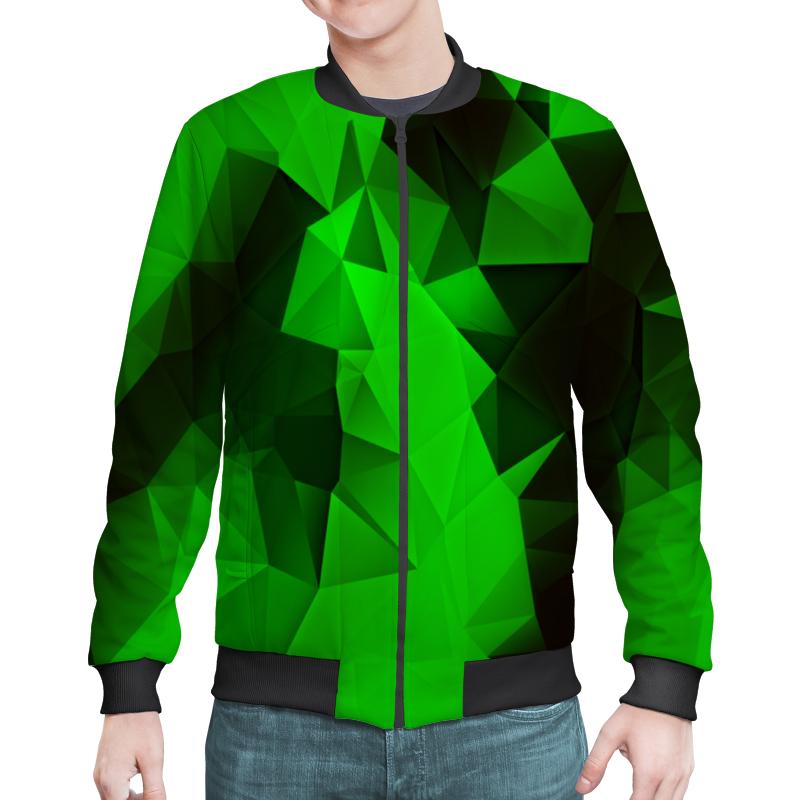 Бомбер Printio Зеленые стекла зеленые цепочки