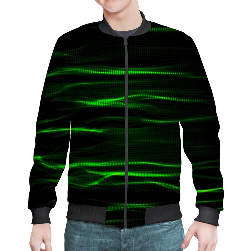 Бомбер Printio Зеленые линии юбка в складку printio зеленые линии