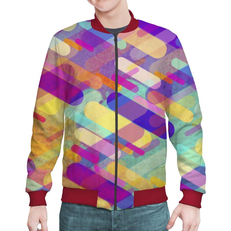 Бомбер Printio Разноцветная абстракция