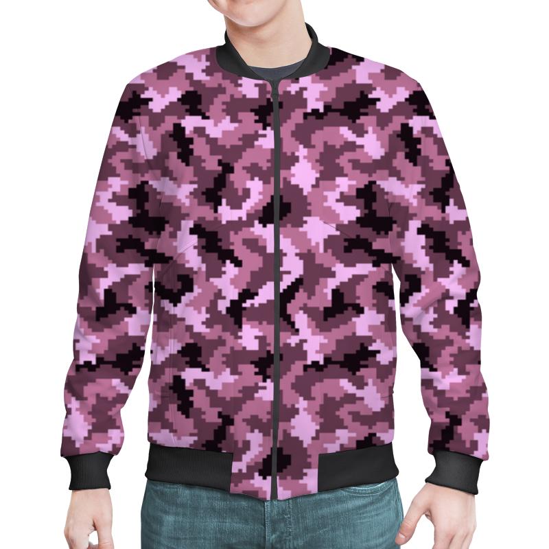 Бомбер Printio Розовые пиксели