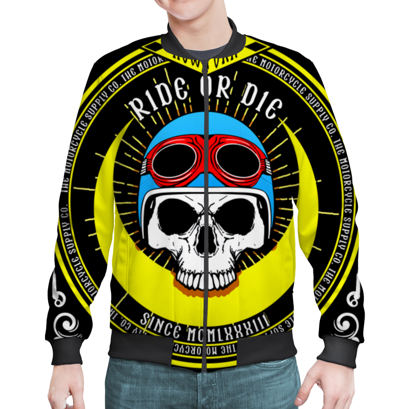 Бомбер Printio Ride or die print bar fish or die