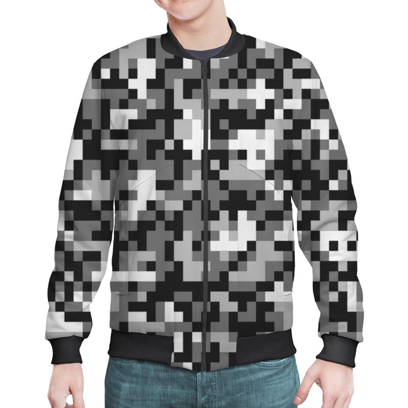 Бомбер Printio Gray pixel