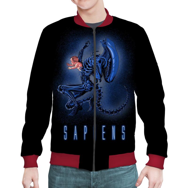 Бомбер Printio Aliens - sapiens недорго, оригинальная цена