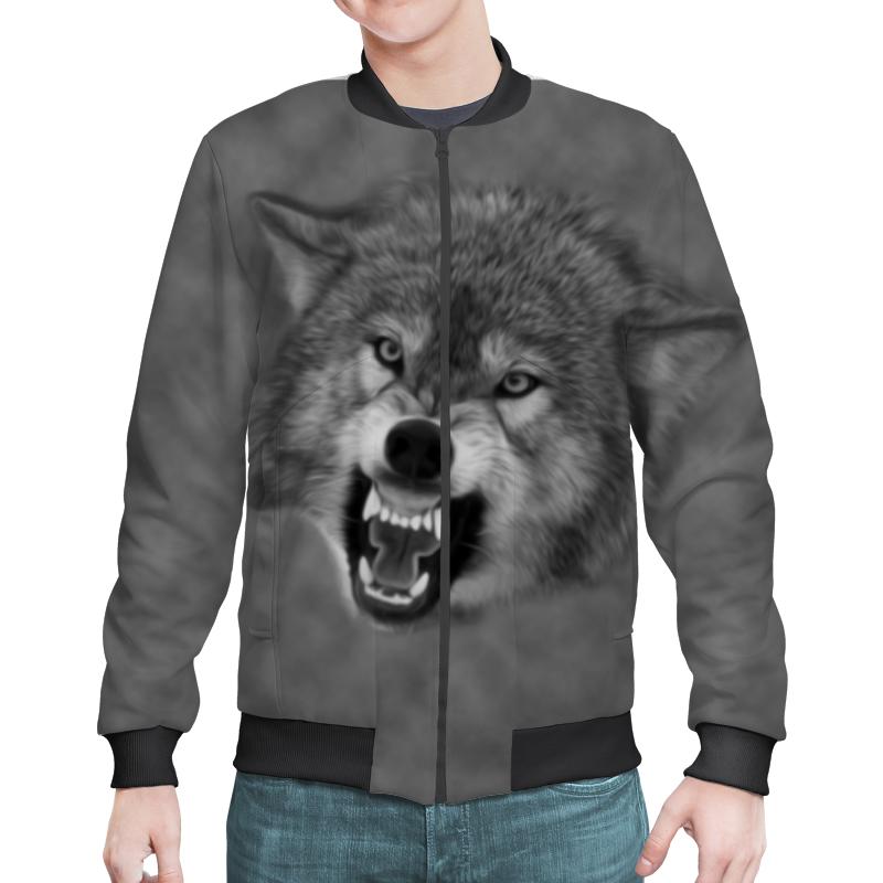 Бомбер Printio Оскал волка