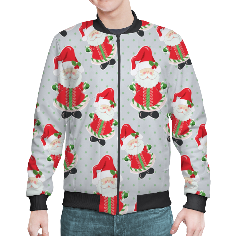 Бомбер Printio Дед мороз украшение новогоднее оконное magic time дед мороз с самоваром двустороннее 30 х 32 см
