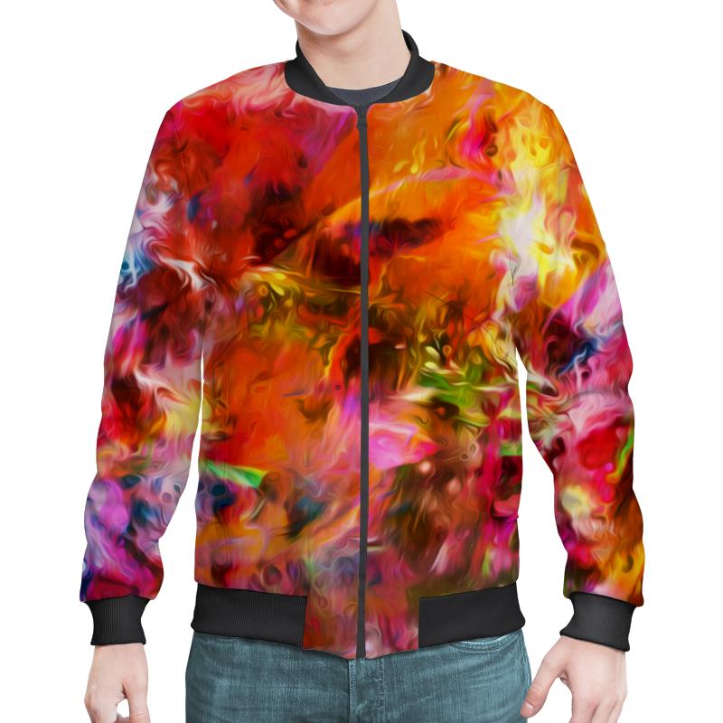 цены Бомбер Printio Разноцветные краски
