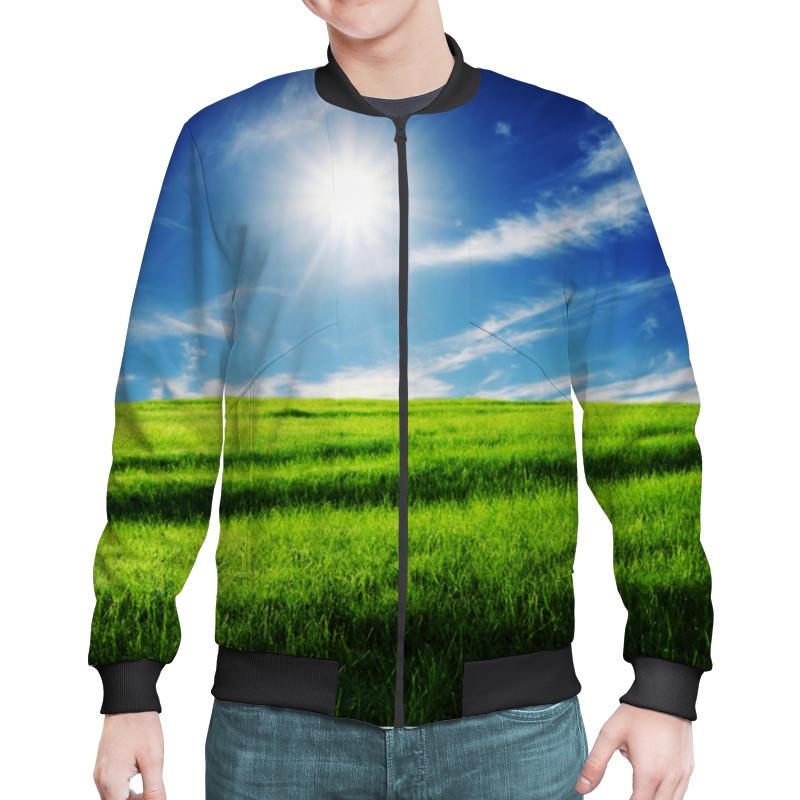 Бомбер Printio Летний луг костюмы апрель футболка леггинсы летний луг