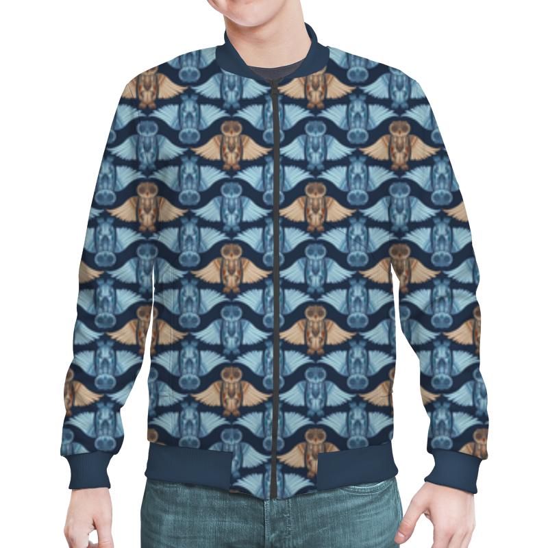 Бомбер Printio Совы, орнамент в стиле рустик puzzle 500 яркие совы alpz500 7701