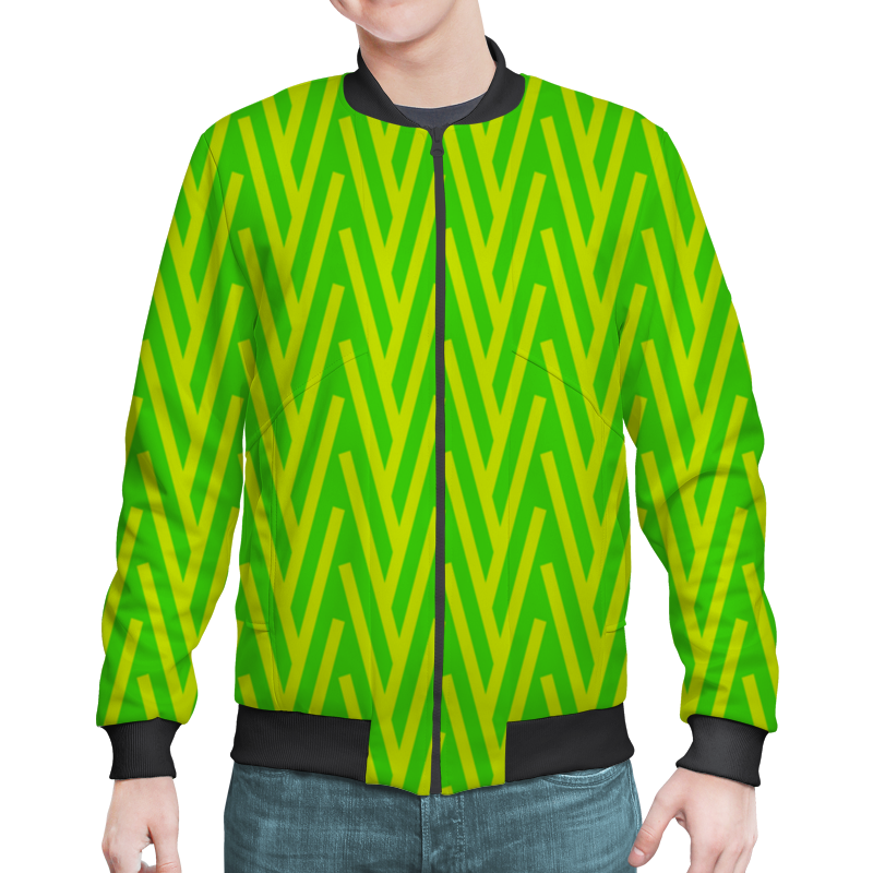 Бомбер Printio Желто-зеленый узор жучок zhorya желто зеленый