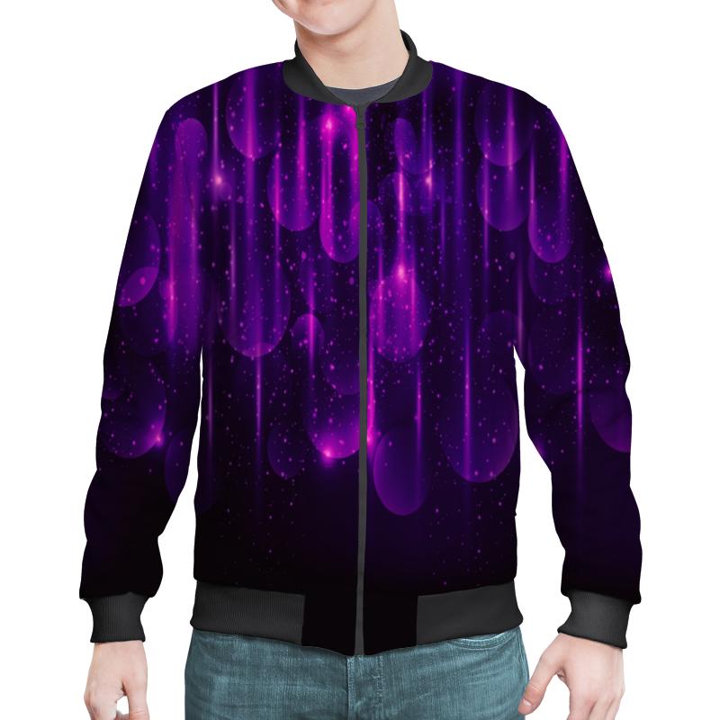Бомбер Printio Фиолетовые вспышки