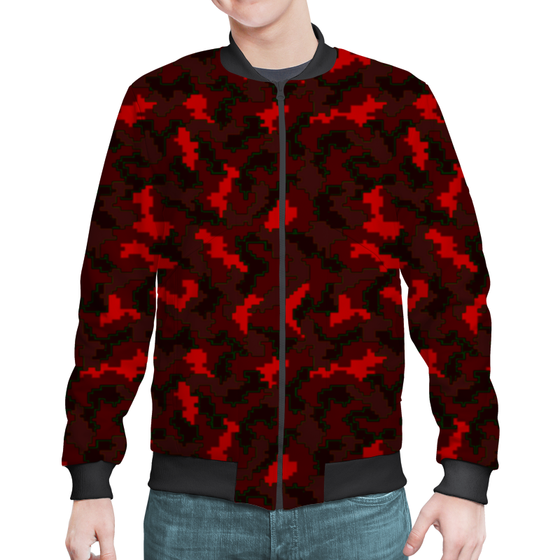 Бомбер Printio Красные пиксели бомбер printio красные маки