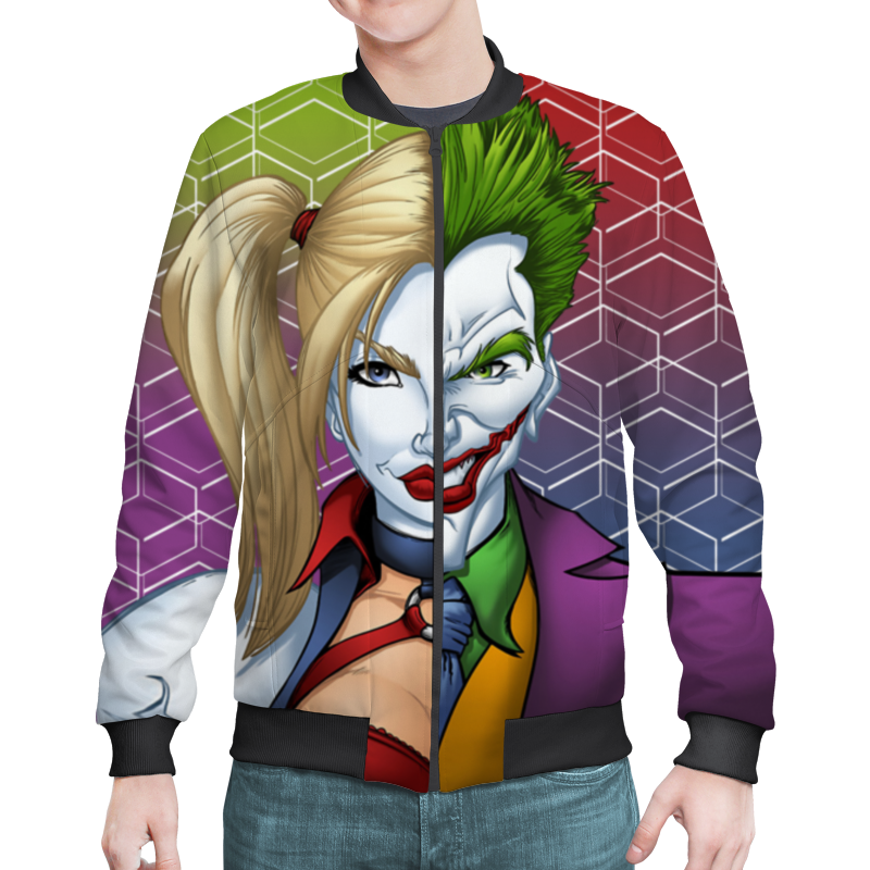 Бомбер Printio Harley quinn & the joker