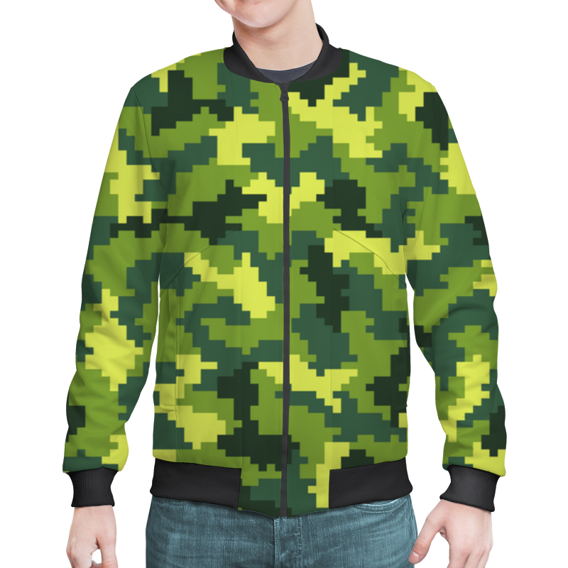 Бомбер Printio Summer camouflage xintown camouflage winter long sleeved