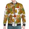 """Бомбер """"Осенние листья ложатся на плечи"""" - листья, осень, орнамент, природа, мехенди"""