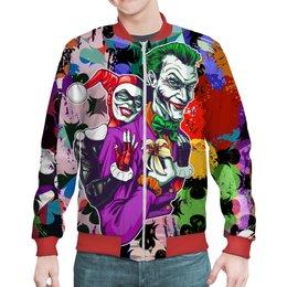 "Бомбер ""The Joker&Harley Quinn"" - джокер, харли квинн, отряд самоубийц, суперзлодеи, любителям комиксов"