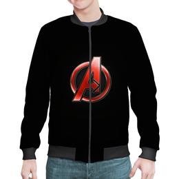 """Бомбер мужской """"Мстители (The Avengers)"""" - мстители, железный человек, тор, эра альтрона, воитель"""