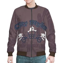 """Бомбер мужской """"Городской стиль"""" - скейт, спорт, город, ролики, велосипед"""