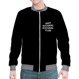 "Бомбер ""ANTI NATURAL NATURAL CLUB"" - lol, swag, wax, anti natural naturl club, antinaturalnaturalclub"