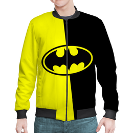 "Бомбер мужской ""Batman (Бэтмен)"" - batman, бэтмен, супергерой, летучая мышь, брюс уэйн"