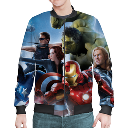 "Бомбер ""Мстители (Avengers)"" - hulk, iron man"
