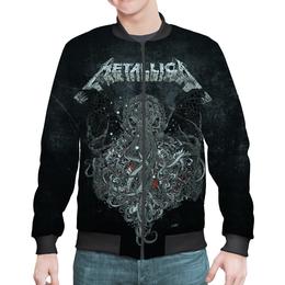"""Бомбер мужской """"Metallica"""" - рок, metallica, группы, метал, металлика"""