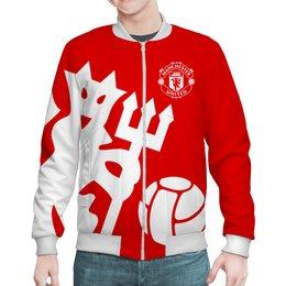 """Бомбер """"Манчестер Юнайтед"""" - манчестер юнайтед, manchester united, футбольный клуб, красные дьяволы, мю"""