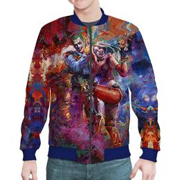 "Бомбер ""The Joker & Harley Quinn Design"" - отряд самоубийц, джокер, харли квинн, dc комиксы, суперзлодеи"