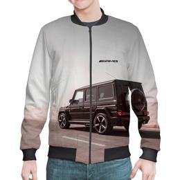 "Бомбер мужской ""Mercedes benz ///AMG (гелендваген)"" - mercedes, amg, геледваген, гелек, g-klass"