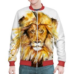 """Бомбер """"Львиный зов"""" - царь, лев, мужчина, зверь, животное"""