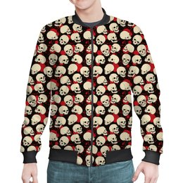 "Бомбер ""Skulls"" - череп, скелет, тьма"