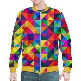 """Бомбер """"Geometric Design"""" - стиль, абстракция, геометрия, треугольники, геометрические фигуры"""