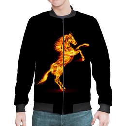 """Бомбер """"Огненная лошадь"""" - лошадь, огонь"""