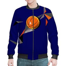 "Бомбер мужской ""Бомбер спорт"" - спорт, мяч, движение, баскетюол"