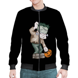 "Бомбер ""Чудовище Франкенштейна"" - хэллоуин, зомби, монстр, тыква, франкенштейн"