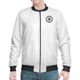 "Бомбер ""черно-белый биткойн стиль"" - bitcoin shop, толстовка биткоин, стиль биткоин, одежда биткоин, крипто одежда"