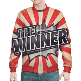 "Бомбер ""The Winner"" - арт, рисунок, дизайн, графика, иллюстрация"