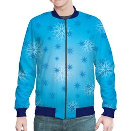 "Бомбер ""Снежинка"" - праздник, новый год, зима, снег, снежинка"