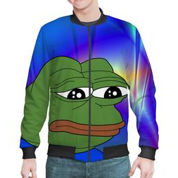 "Бомбер ""SAD FROG"" - мем, meme, грустная лягушка, sad frog, pepe frog"