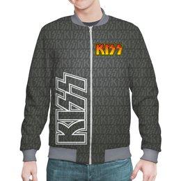"Бомбер ""KISS Design"" - музыка, рок, рок-группа, кисс, меломанам"