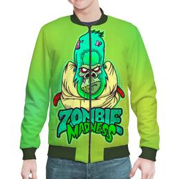 "Бомбер мужской ""Zombie Madness"" - арт, zombie, зомби, обезьяна, горилла"