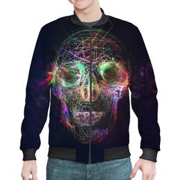 "Бомбер ""Skull - 17"" - skull, череп, арт, дизайн, rock and roll"